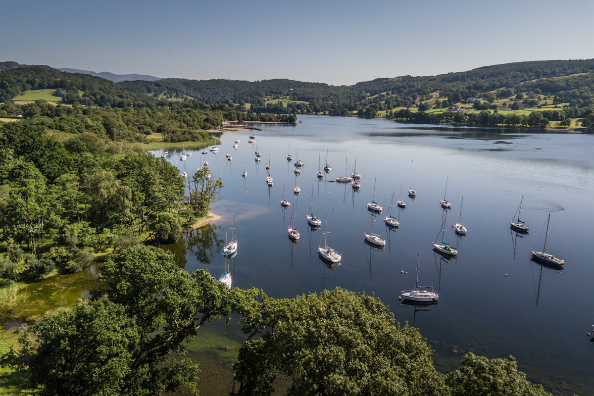 Lake coniston and boats