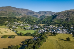 Coniston village aerial 1